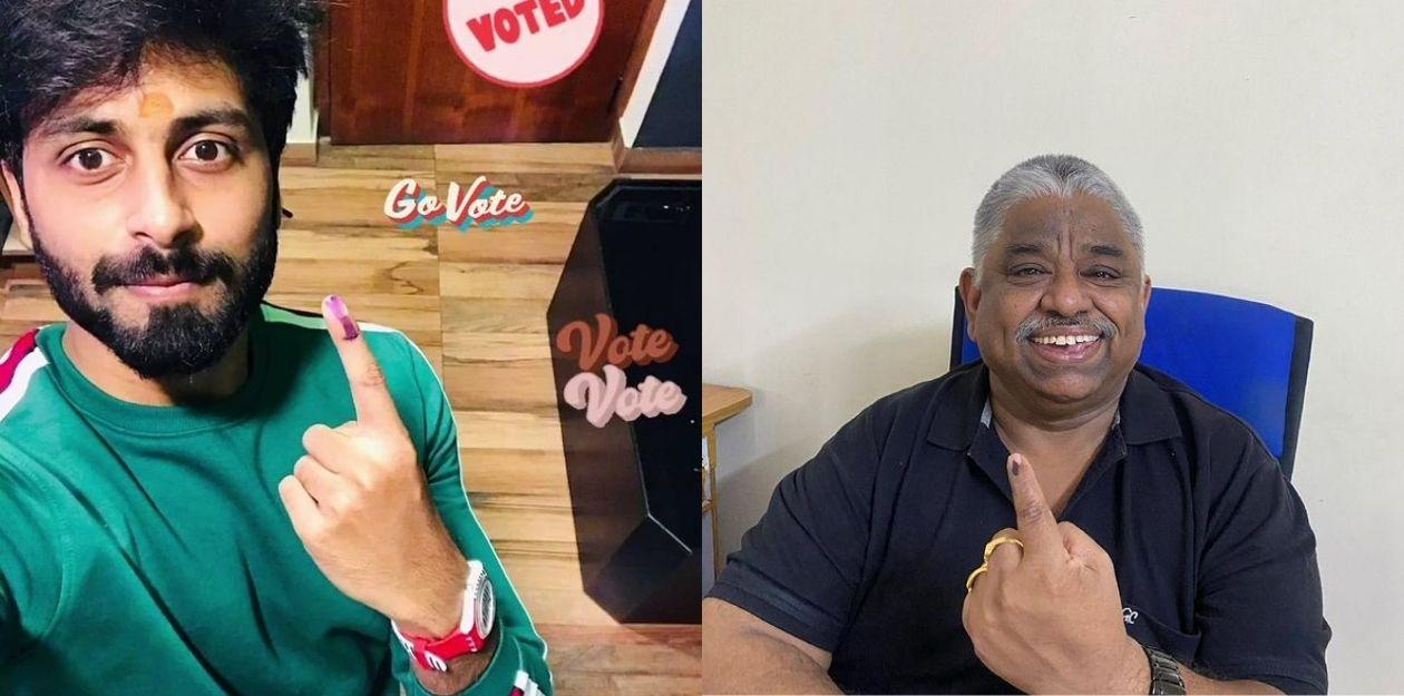 குக்கு வித் கோமாளி பிரபலங்கள் வாக்குப்பதிவு செய்தனர் | 2021 சட்டமன்ற தேர்தல் 7