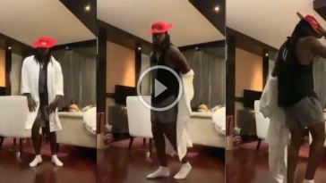 கிறிஸ் கெயிலின் மூன் வாக்! viral video 16